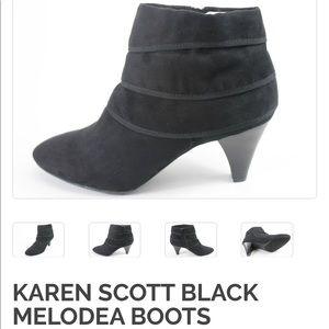Karen Scott Black Suede Melodea booties